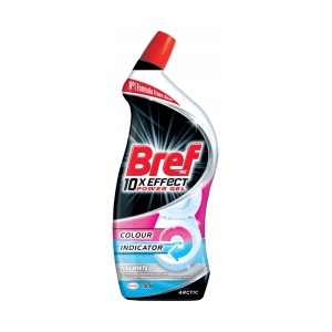 Bref żel do WC 10x Effect Colour Indicator White 700 ml